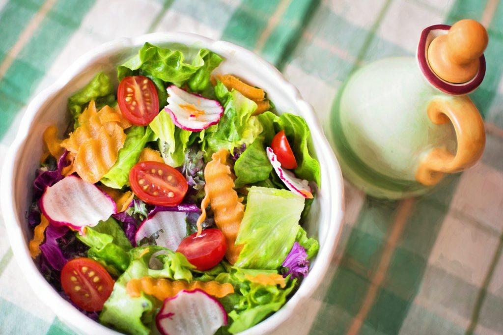bowl of leafy vegetables